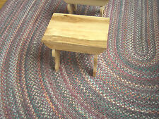 Ohio Amish Handcrafted Figured Hickory Step Stool small bench Taguchi style