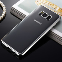 Shockproof Chrome Protective Gel Case Cover For Samsung Galaxy S8 S9 PLUS