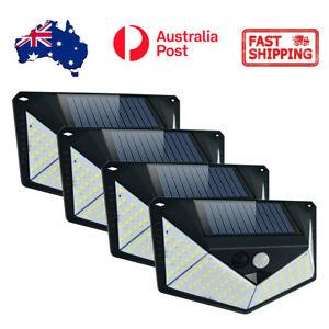 4X 110 LED Solar Powered PIR Motion Sensor Light Garden Outdoor Security Lights