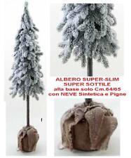 ALBERO di NATALE Cm.150 SUPER SLIM-SOTTILE con NEVE e PIGNE INNEVATO SNOWLY 5770
