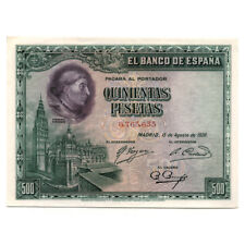 Spain Cardenal Cisneros 500 Pesetas 1928  Pick 77a About Uncirculated