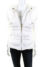 Michael Michael Kors  Womens Hooded Puffer Vest White Size Extra Small