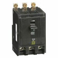 Square D Qob390 Miniature Circuit Breaker - 90 A, 3 Pole, 120/240 Vac