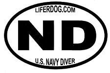 4x6 USN ND U.S. NAVY DIVER    STICKER