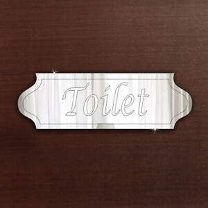 Toilet Door Sign Signage Plaque Acrylic Mirror Office Home FREE Personalisation