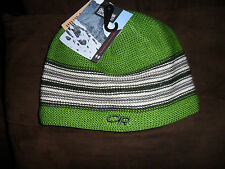 Boys Outdoor Research Spitsbergen Beanie Green w/Stripes Size:XS-S  New