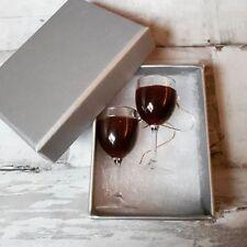 Unique RED WINE GLASS EARRINGS handmade MERLOT shiraz RIOJA glasses MINIATURE