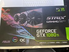 More details for asus rog strix geforce gtx 1080 ti oc 11gb gddr5x graphics card