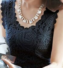beautiful sleeveless top, lined lacy front, black, BNWT, LAST ONE, **SALE**