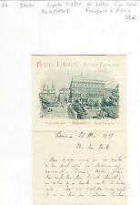 Italie - Rome - Superbe Entête d'un HOTEL FRANCAIS EN ITALIE du 24/05/1905