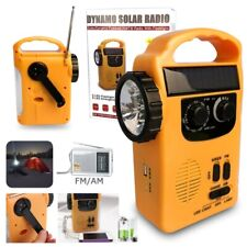 Outdoor Emergency Hand Crank Solar Dynamo AM/FM Radios Power Bank And LED Lamp