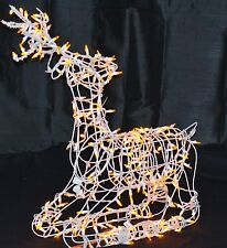 Wire Frame Reindeer Sitting Buck LED Lighted Christmas Outdoor Decor