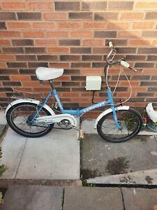 Raleigh Stowaway 20 Shopper Bicycle Bike Vintage Foldable 1970's