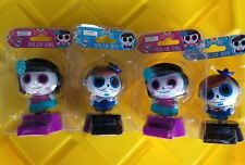 4PC Dia De Los Muertos Angelitos Calaveritas De Azucar Dancing Bobble Head Toys