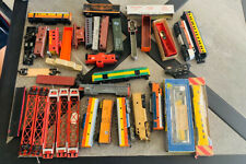 Lot ho scale train junkyard locomotive and car parts pieces