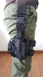 NEW TACTICAL RIGHT HAND PADDEL LEG BELT THIGH HARD DROP HOLSTER FOR GLOCK 19