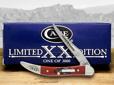 CASE XX Limited Edition Brick Red Bone Toothpick Stainless 1/3000 Pocket Knife
