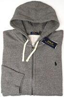 NEW $125 Polo Ralph Lauren Hoodie Gray Heather Long Sleeve Sweatshirt Mens Grey