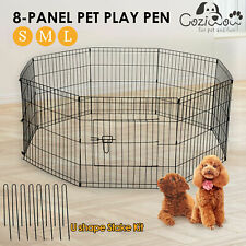 8 Panel Pet Dog Playpen Puppy Exercise Cage Fence Kennel Foldable Safe Gate