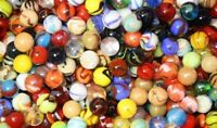 500 Count Bulk Assorted Premium 5/8 Inch Player Glass Mega Marbles Custom Assort