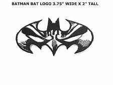 Batman Logo Patch Embroidered Iron on Applique Cartoon Kid Movie Motif Superhero