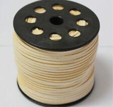10yd Wholesale 3mm Suede Leather String Jewelry Making Bracelet DIY Thread Cord Beige