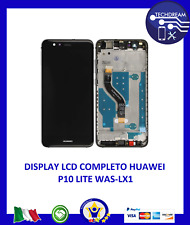 TOUCH LCD DISPLAY HUAWEI P10 LITE NERO CON FRAME WAS-LX1 WAS-LX1A NUOVO ORIGINAL