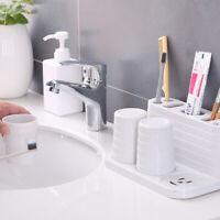 Toothbrush Toothpaste Cup Holder Bathroom Storage Rack Organizer Drying Rack J