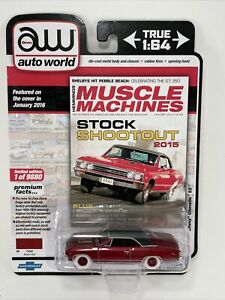 2020 AW Auto World MUSCLE MACHINES 1967 CHEVY CHEVELLE SS #5 Ultra Red Chase