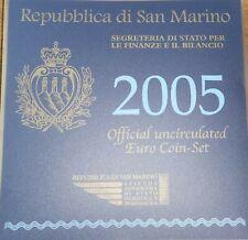 Monete divisionali e 2€ commemorativi 2005 Repubblica di San Marino FDC BU Set