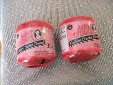 Lot 2 Aunt Lydia's Fashion Crochet Thread Size 3 Color SCARLETT RED 100% Cotton