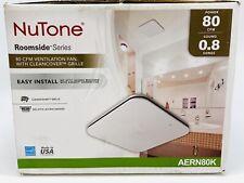 NuTone AERN80LK 80 CFM Bathroom Exhaust Fan Motor LED Cover Wiring Panel