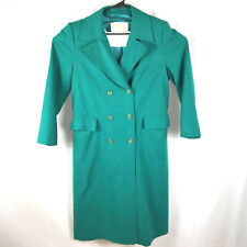 Pendleton Size 8 Womens Winter 100% Virgin Wool Coat Double Breasted Vintage USA