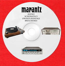 Marantz Audio Repair Service owner manuals on 2 dvd in pdf format
