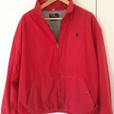 Vintage Polo Ralph Lauren Red Fleece Lined Jacket XL Zipper USA