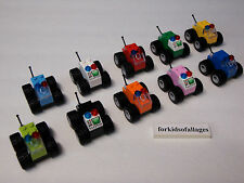 Lot of Lego Pieces: 10 Race Cars Mini Offroad 4x4 Trucks Birthday Party Favors
