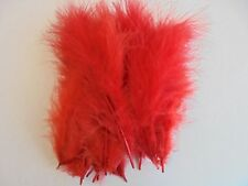 20 x large marabou feather 10-15cm RED for fly tying,crafts,cards etc.