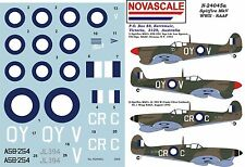 RAAF Spitfire MkVc WWII Decals 1/24 Scale N24045a