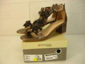 Women's 9 40 Patrizia by Spring Step Tazetta Bronze Floral Sandals T-Strap NIB