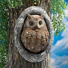 Statue Garden Owl Tree Sculpture Gift Decor Outdoor Home Yard Lawn Resin - 1Pc