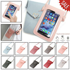 Touchable Screen Leather Change Bag Phone Case Pouch Wallet Crossbody Women Gift