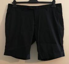 """DKNY BFT103097 Men's Flat Front Shorts Black Size uk 38"""" Waist"""
