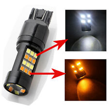 2Pcs T20 7443 42SMD 2835 LED Turn Signal Light Switchback Dual Color White/Amber