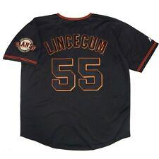 Tim Lincecum San Francisco Giants Men's Alternate Black Jersey w/ Team Patch