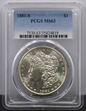 1881 S United States Morgan Silver Dollar Graded MS63 by PCGS 7130.63/35424819