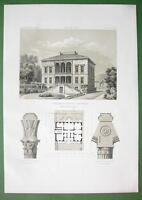 ARCHITECTURE PRINT 1860s : Germany Villa at Trarbach on the Moselle