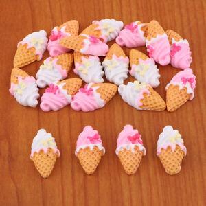 20 Stück Ostern Candy Ice Cream Harz Flatback Perlen Verschönerung