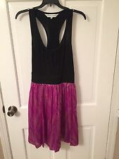 Trina Turk Black And Purple Racer Back Dress New Without Tags Size 8