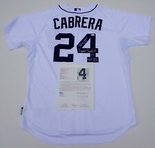 MIGUEL CABRERA SIGNED TIGERS JERSEY W/TRIPLE CROWN & MVP INSCRIPTIONS JSA LOA