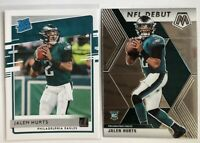 Jalen Hurts 2020 Football ROOKIE Card Lot RATED ROOKIE + MOSAIC NFL DEBUT Eagles